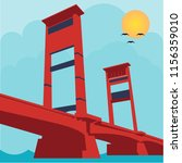 this is the ampera bridge | Shutterstock .eps vector #1156359010