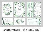 eucalyptus design. wedding... | Shutterstock .eps vector #1156362439