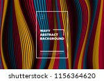 distortion of lines. modern... | Shutterstock .eps vector #1156364620