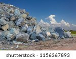 view large pile of granite on... | Shutterstock . vector #1156367893