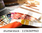 professional decorator drawing... | Shutterstock . vector #1156369963