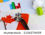 canadian national flag on... | Shutterstock . vector #1156374439