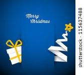 Simple Vector Blue Christmas...