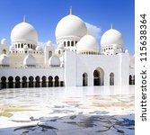 abu dhabi sheikh zayed white... | Shutterstock . vector #115638364