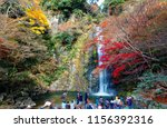 tourists admire the beautiful... | Shutterstock . vector #1156392316