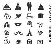 wedding icons collection | Shutterstock .eps vector #1156397599
