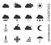 weather simple icons | Shutterstock .eps vector #1156397653
