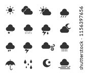 weather simple icons | Shutterstock .eps vector #1156397656