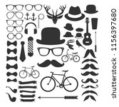 hipster element icons | Shutterstock .eps vector #1156397680