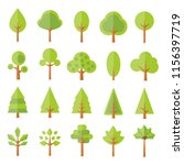 green tree icons | Shutterstock .eps vector #1156397719