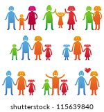 vector family icons   happy... | Shutterstock .eps vector #115639840