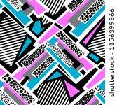 geometric curved lines graffiti ... | Shutterstock .eps vector #1156399366