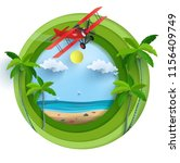 illustration of an airplane... | Shutterstock .eps vector #1156409749