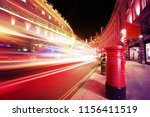 motion speed light in london... | Shutterstock . vector #1156411519