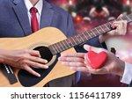 man play guitar   Shutterstock . vector #1156411789