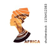 african woman s head silhouette ... | Shutterstock .eps vector #1156412383