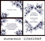 vintage delicate greeting... | Shutterstock .eps vector #1156413469