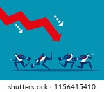 business team and failure.... | Shutterstock .eps vector #1156415410