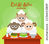 gather on eid al adha... | Shutterstock .eps vector #1156415809