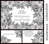 romantic wedding invitation... | Shutterstock . vector #1156415929