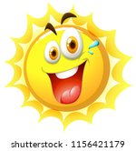 a happy sun on white background ... | Shutterstock .eps vector #1156421179