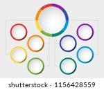 business vector slide template... | Shutterstock .eps vector #1156428559