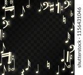 magic musical notes on black... | Shutterstock .eps vector #1156431046