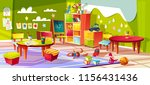 kindergarten or kid room... | Shutterstock .eps vector #1156431436
