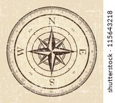 vintage grunge compass | Shutterstock .eps vector #115643218