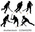 field hockey silhouette on... | Shutterstock .eps vector #115643290