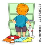 illustration of a kid boy... | Shutterstock .eps vector #1156435273