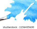 brush painted guitar background ... | Shutterstock . vector #1156435630