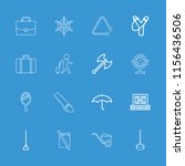 handle icon. collection of 16... | Shutterstock .eps vector #1156436506