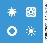 sunny icon. collection of 4... | Shutterstock .eps vector #1156438039