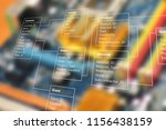database table with modern... | Shutterstock . vector #1156438159