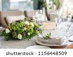 wedding banquet or gala dinner. ...   Shutterstock . vector #1156448509