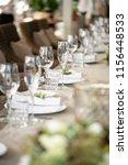wedding banquet or gala dinner. ...   Shutterstock . vector #1156448533