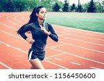 ethnic runner on track. diverse ...   Shutterstock . vector #1156450600