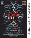 cyberpunk futuristic poster.... | Shutterstock .eps vector #1156455886