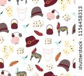 retro fashion 1920s 1930s... | Shutterstock .eps vector #1156458313