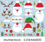 christmas vector set  santa... | Shutterstock .eps vector #1156466830