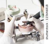 dental technician working with... | Shutterstock . vector #115646818