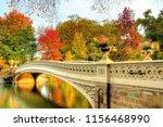 new york central park bow bridge | Shutterstock . vector #1156468990