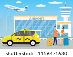 airport buildings  control... | Shutterstock .eps vector #1156471630