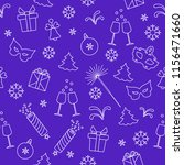 seamless pattern with new year... | Shutterstock .eps vector #1156471660