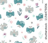 funny seamless pattern with... | Shutterstock .eps vector #1156475056