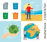clean world day earth... | Shutterstock .eps vector #1156476763