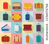 suitcase travel luggage bag... | Shutterstock .eps vector #1156476766