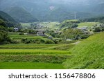landscape of countryside green ... | Shutterstock . vector #1156478806