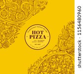 pizza design template. hand... | Shutterstock .eps vector #1156480960